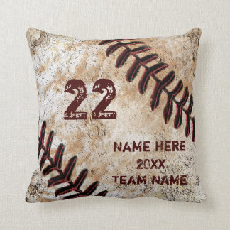 Grunge Personalised Baseball Gifts for Players Throw Pillow