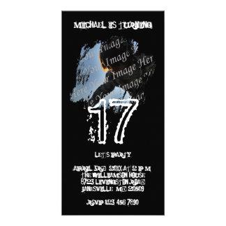 Grunge Photo Birthday Invitations Picture Card