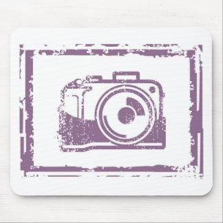Grunge Photo Camera Stamp Mouse Pad