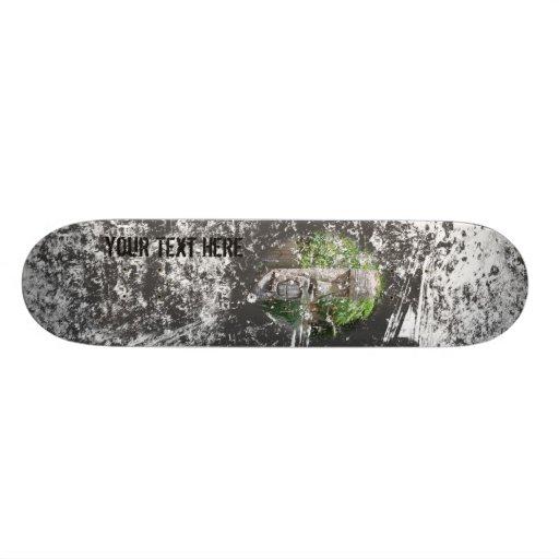 Grunge Photo Skateboard Template Frame