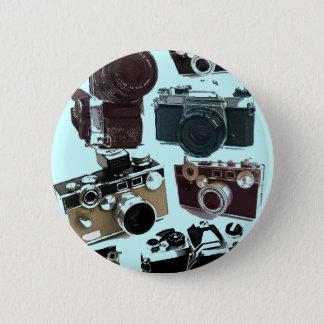 Grunge photographer photography Vintage Camera 6 Cm Round Badge