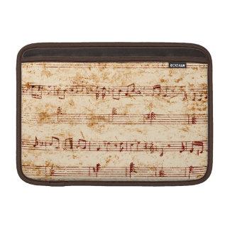Grunge piano notes music sheet MacBook sleeves