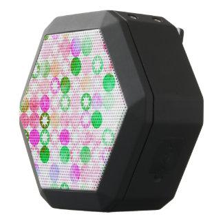 Grunge Pink & Green Dots with Star Bursts Black Boombot Rex Bluetooth Speaker