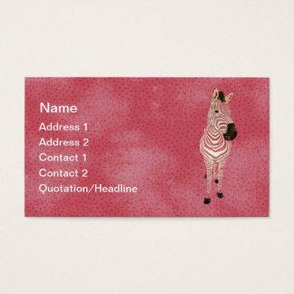 Grunge Pink Zebra Business Card/Tags
