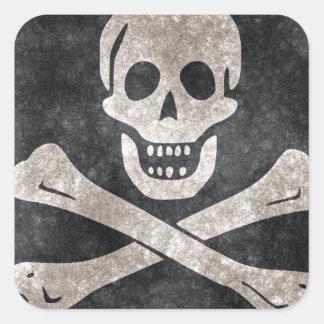 Grunge Pirate Flag Sticker