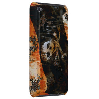 Grunge Pirate Skull & Crossbones Flag iPod Case