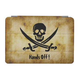 Grunge Pirate Warning iPad Cover
