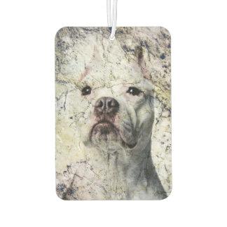 Grunge Pitbull terrier Car Air Freshener