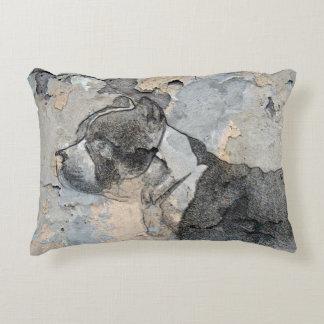 Grunge Pitbull terrier Decorative Cushion