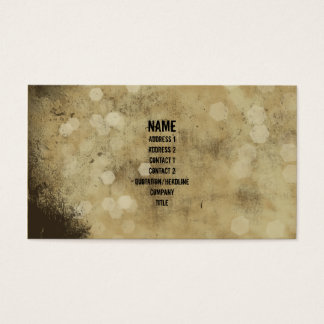 Grunge Plaster Vintage Business Card