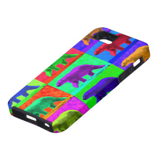 Grunge Pop Art Popart Polar Bear Multi-Panel Tough iPhone 5 Case
