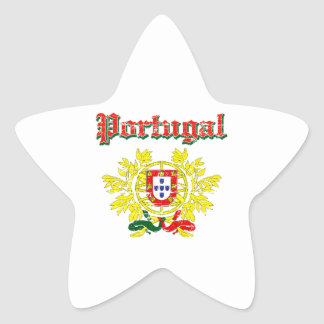 Grunge Portuguese coat of arms designs Star Sticker