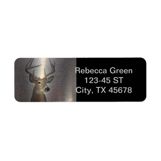 Grunge Primitive buck white tail deer Return Address Label