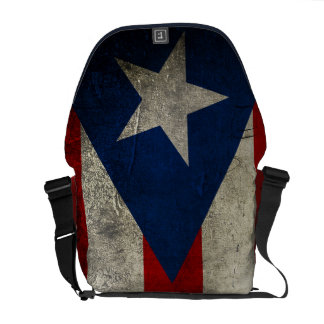 grunge puerto rico flag messenger bag