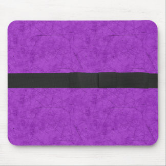 Grunge Purple with Bow Mouse Pad