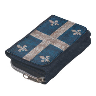 grunge Quiebec flag Wallet