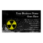 Grunge Radioactive Symbol Business Cards