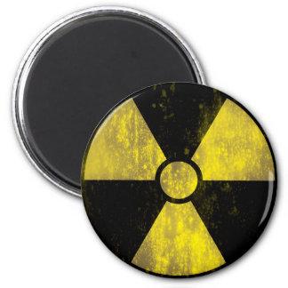 Grunge Radioactive Warning Sign Magnet