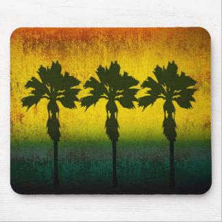 Grunge Rainbow Palm trees Mouse Pad