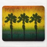 Grunge Rainbow Palm trees Mousemat