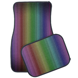 Grunge Rainbow Rock Stripe Line Pattern Floor Mat