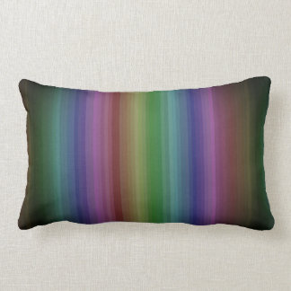 Grunge Rainbow Rock Stripe Line Pattern Lumbar Cushion