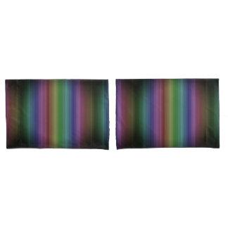 Grunge Rainbow Rock Stripe Line Pattern Pillowcase
