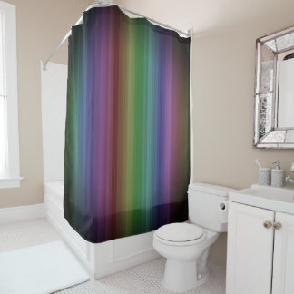 Grunge Rainbow Rock Stripe Line Pattern Shower Curtain