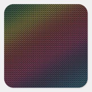 Grunge Rainbow Square Sticker
