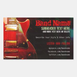 Grunge Red Guitar Music Band Promotion Sticker