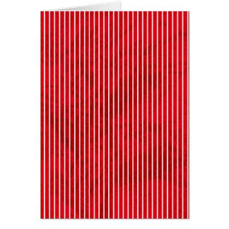 Grunge red stripe on white greeting card