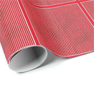 Grunge red stripe on white tiled paper
