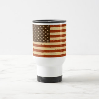 Grunge Retro American Flag Coffee Mugs