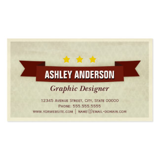 Grunge Retro Brown Pack Of Standard Business Cards