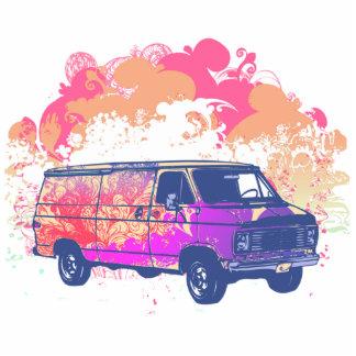 grunge retro hippie van photo cut outs
