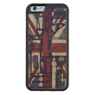 Grunge Retro Union Jack Love London Symbols . Carved Maple iPhone 6 Bumper Case