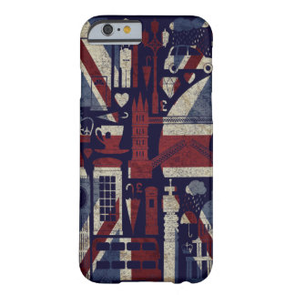 Grunge Retro Union Jack Love London Symbols Barely There iPhone 6 Case