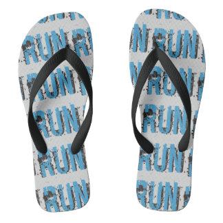 Grunge RUN themed Thongs