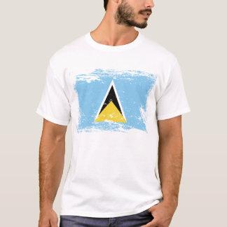 Grunge Saint Lucia flag T-Shirt