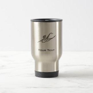 Grunge Saxophone Stainless Steel Travel Mug