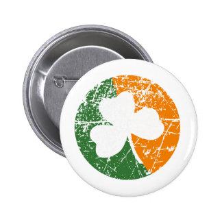 Grunge Shamrock Buttons