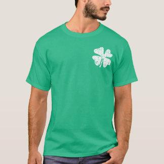 Grunge shamrock St Patricks Day tee | Green shirt
