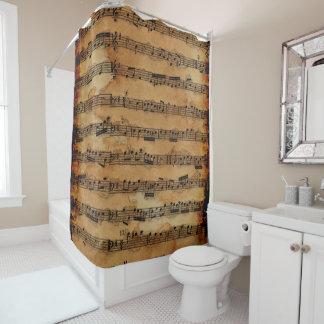 Grunge Sheet Music Music-lover's Shower Curtain