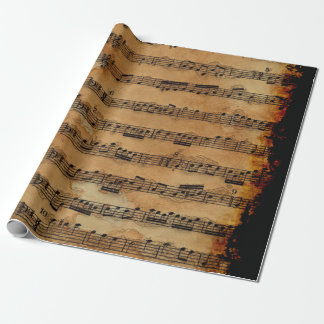 Grunge Sheet Music Music-lover's Wrapping Paper