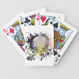Grunge Silver Disco Ball 2 Bicycle Playing Cards