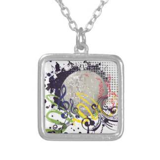 Grunge Silver Disco Ball 2 Silver Plated Necklace