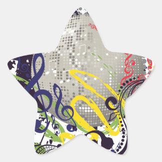 Grunge Silver Disco Ball 2 Star Sticker
