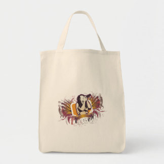 grunge singer karoake angel grocery tote bag