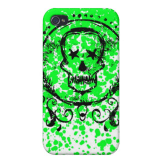 Grunge Skeletons Cover For iPhone 4