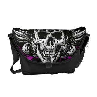 Grunge Skull Bag Messenger Bag